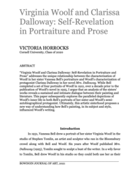 Victoria Horrocks article abstract